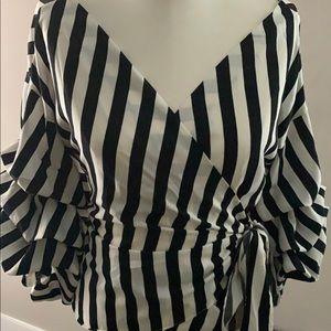 f55cf11d742 Tops - Striped Surplice Top (Sale Item)